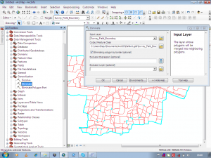 remove gaps from a polygon layer file in ArcGIS: Applying Eliminate tool on the polygon file to remove gaps.