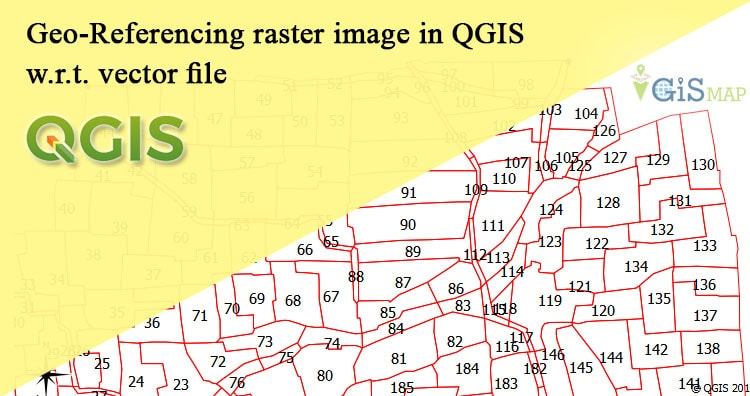 Geo-Referencing raster image in QGIS w.r.t. vector file