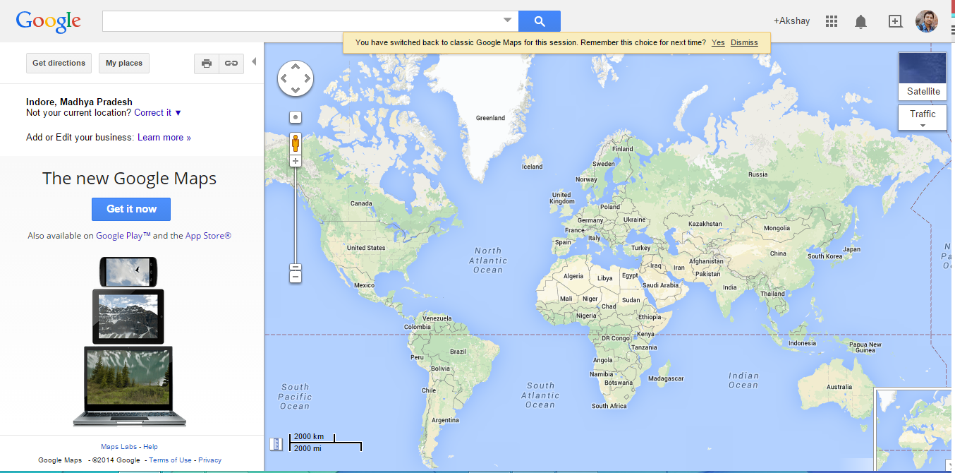 Switch between Google New Map and Google old Map (Clic) on google maps update, google maps screenshot, google maps path,