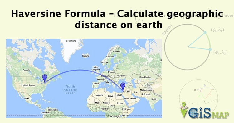Haversine Formula Calculate Geographic Distance On Earth - Route map and distance calculator