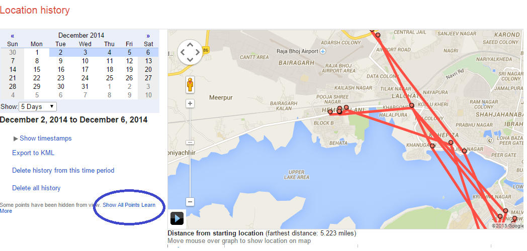 Find Out Your History Location From Google Map Track Export And - Map your distance