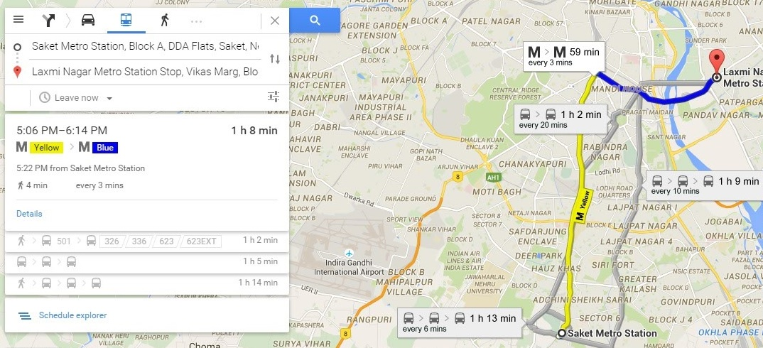 google map route planner