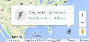 Switch to Google Map Lite Mode