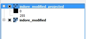 Step 7 -Change projection of a georeference file in other projection