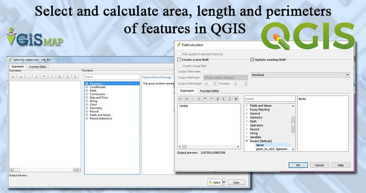 Select and calculate area, length and perimeters of features in QGIS