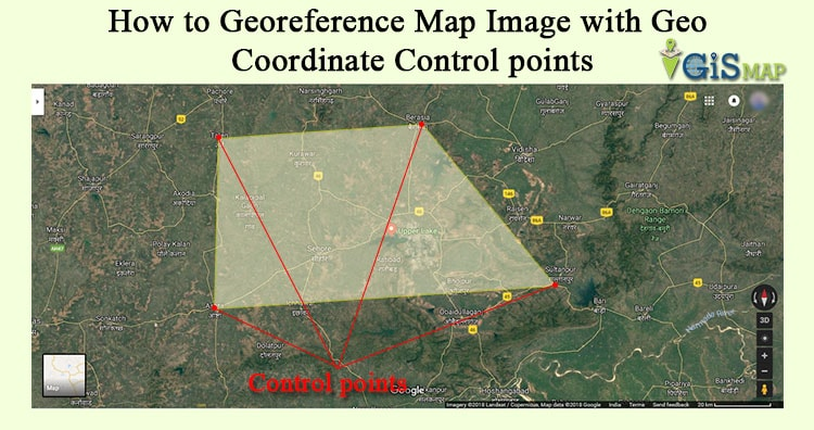How to Georeference Map Image with Geo Coordinate Control points