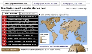 BBC map news - News map website