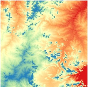 Digital Terrain Data create contour map