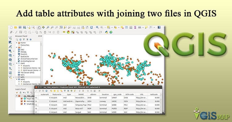 Add table attributes with joining two files in QGIS