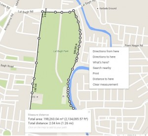 measure area in Google map