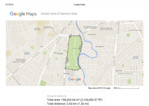 Print measure area in Google map