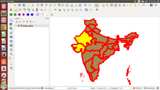Merge two or more polygons, points or polyline in Shapefile