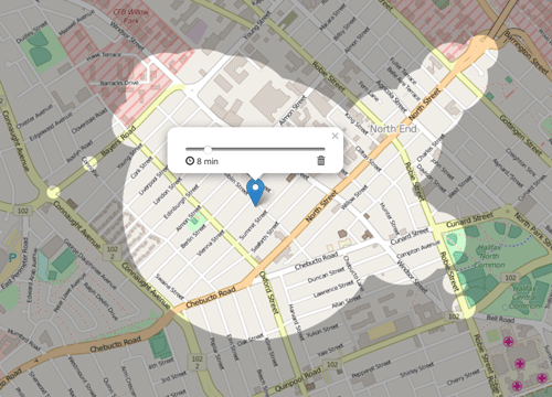 ISODISTANCE and ISOCHRONE Map API
