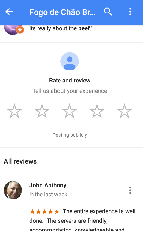 Google Maps Review Ratings of local Favorites – Know users view
