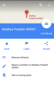 Google Maps postal Address feature
