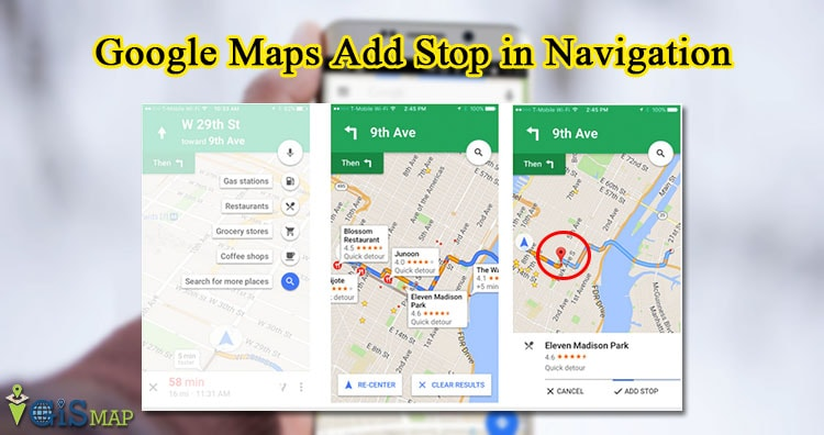 Google Maps Add Stop in Navigation