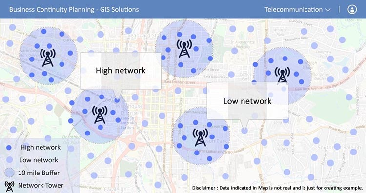 Telecom - Business Continuity Planning -GIS solutions