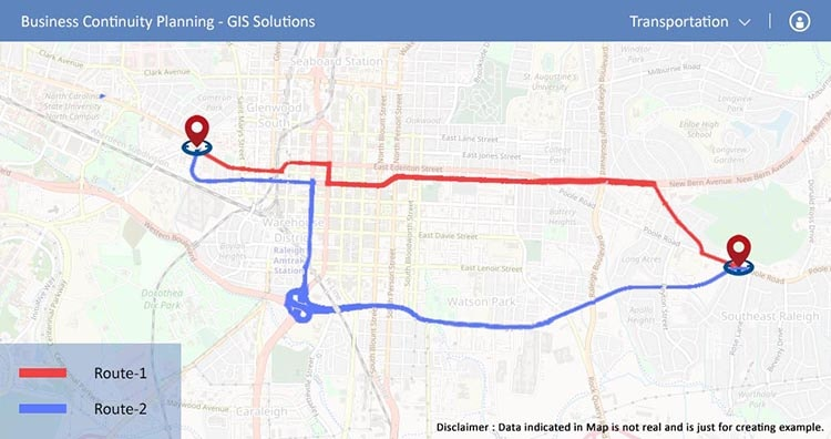 Transport - Business Continuity Planning -GIS solutions