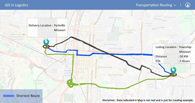 Transportation Routing - GIS in Logistics
