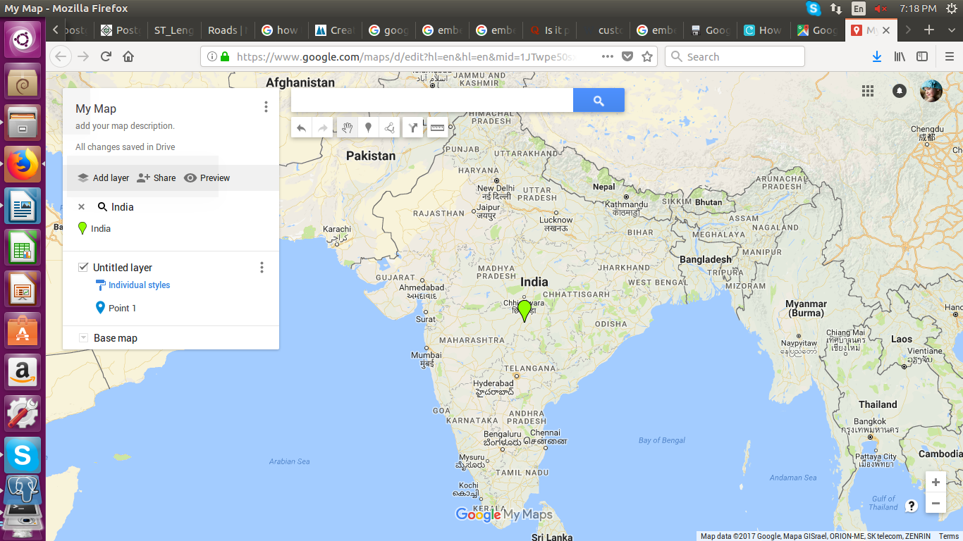 Embed Google map with 2 or more Markers for Web pages