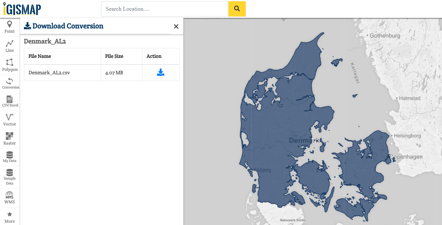 Shapefile to csv