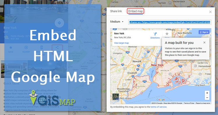 Embed HTML Google Map