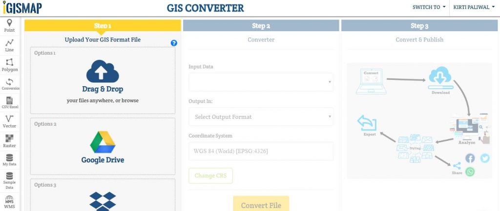 Shapefile to CSV conversion - GIS MAP INFO