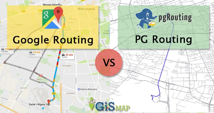 PGrouting PostGIS Postgresql - No need for Google routing