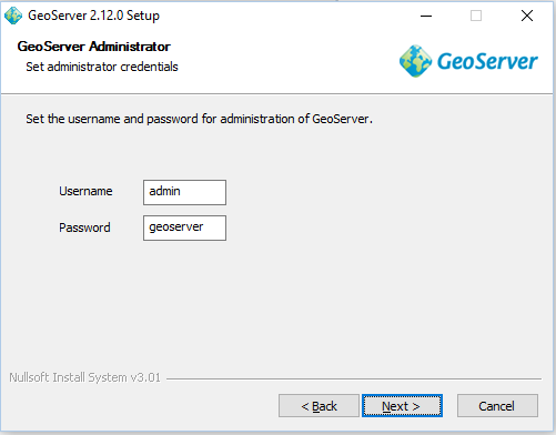 Install Geoserver in windows