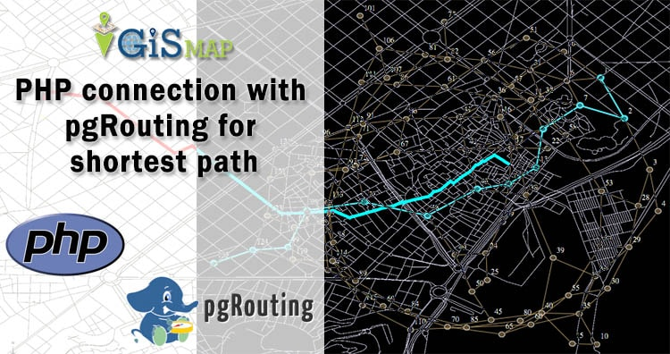 PHP connection with pgRouting for shortest path