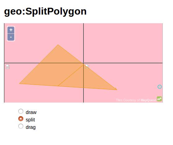 WPS Split polygon on Geoserver