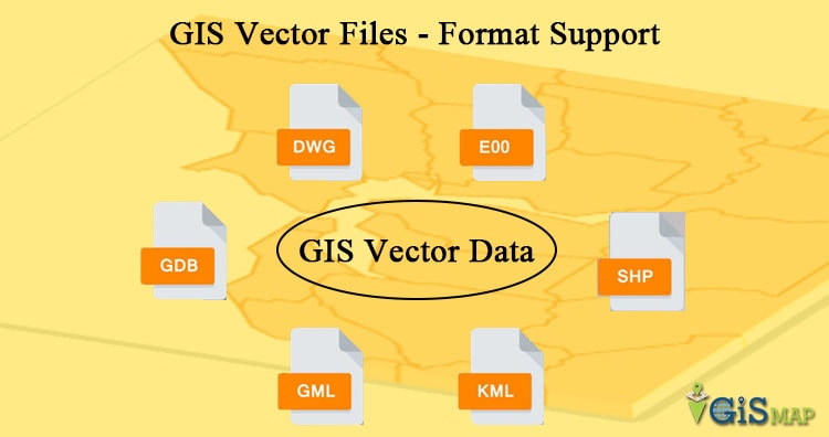 vector data file formats list in gis gis map info