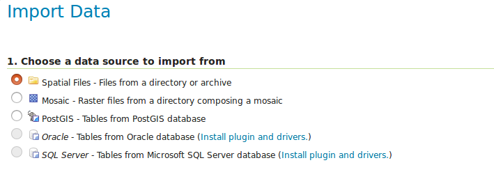 Geoserver Importer Extension API