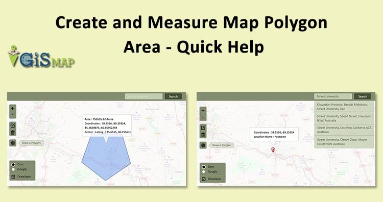 Create and Measure Map Polygon Area