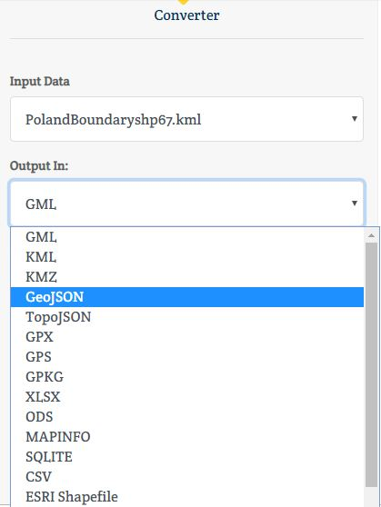KML to GeoJSON - Conversion