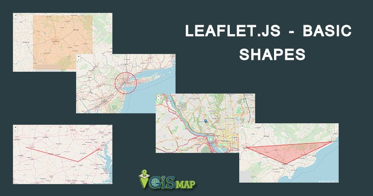 Leaflet js - Point, Polyline, Polygon, Rectangle, Circle