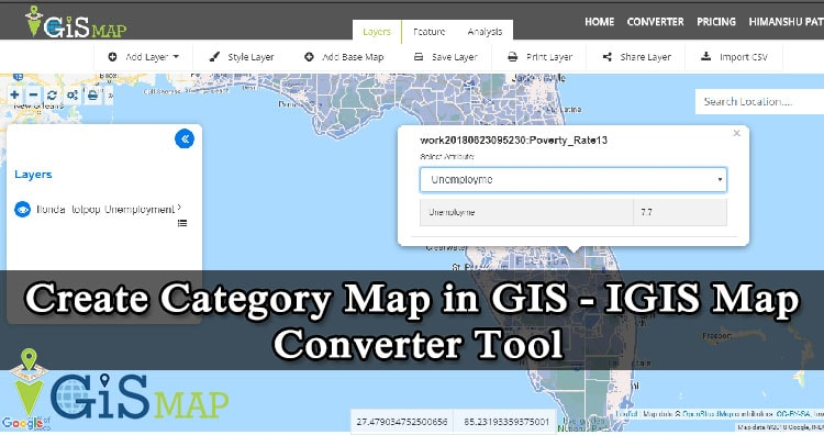 Category map in GIS