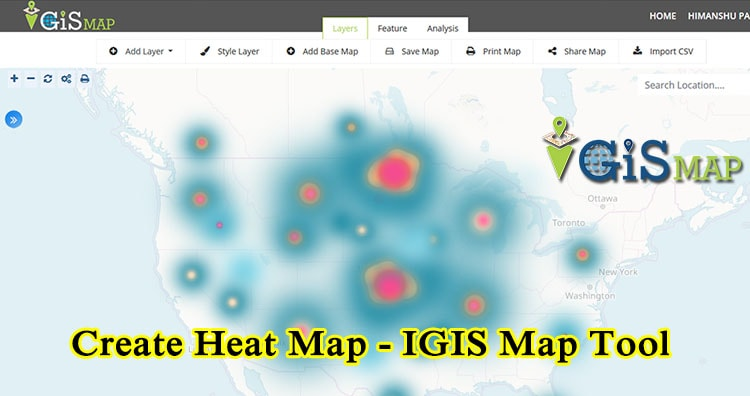 Create Heat Map – IGIS Map Tool