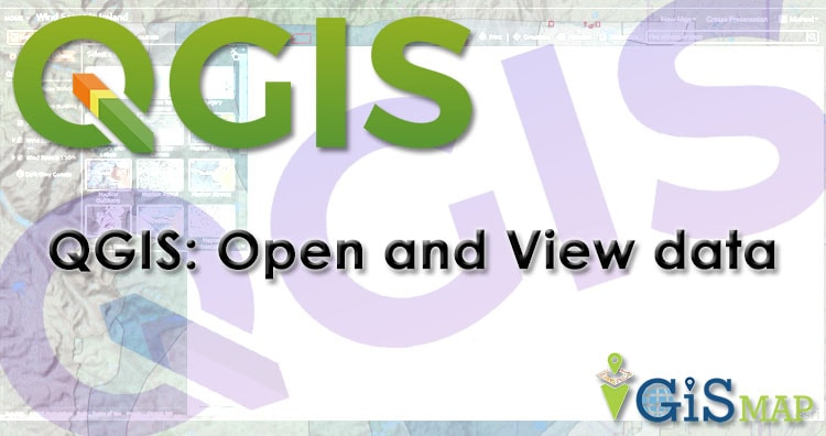 QGIS 3.4.4 open and view vector data