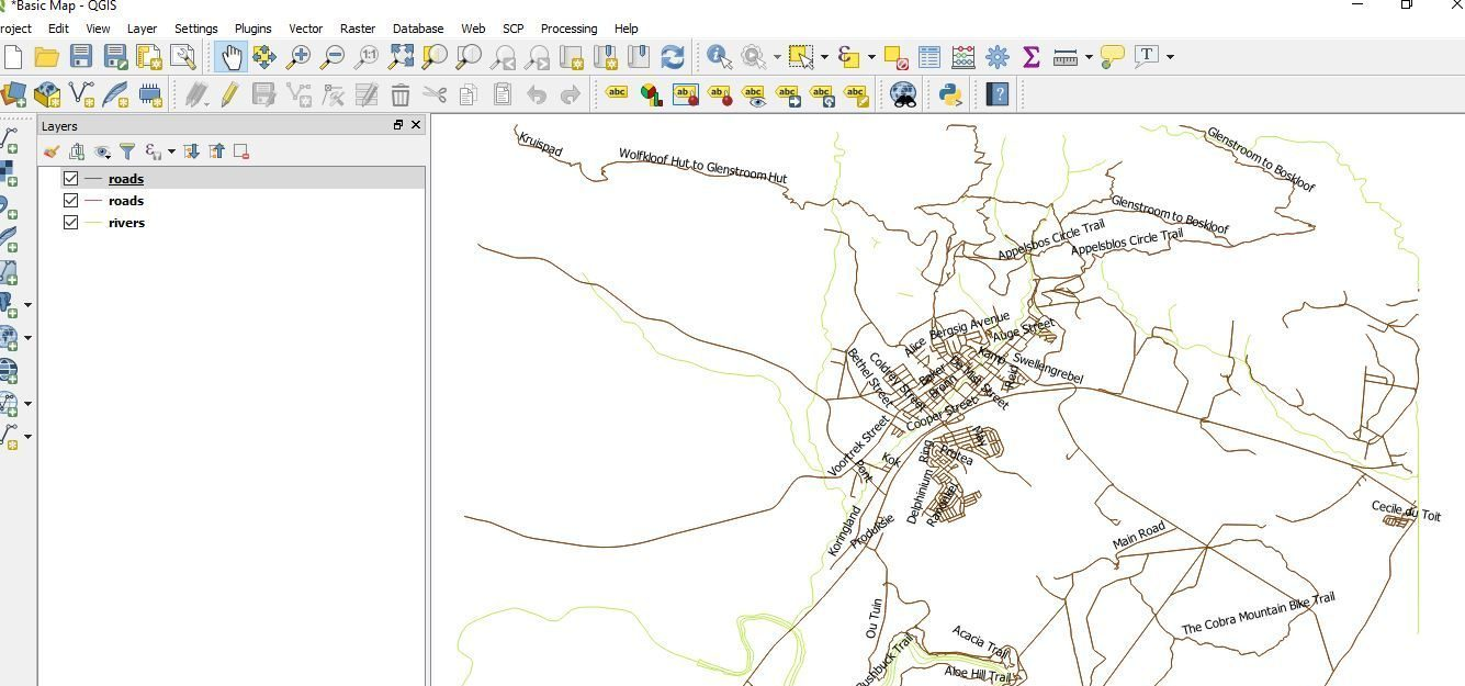 Pin/unpin labels, move labels and diagrams, resize labels of layer using QGIS 3.2.1