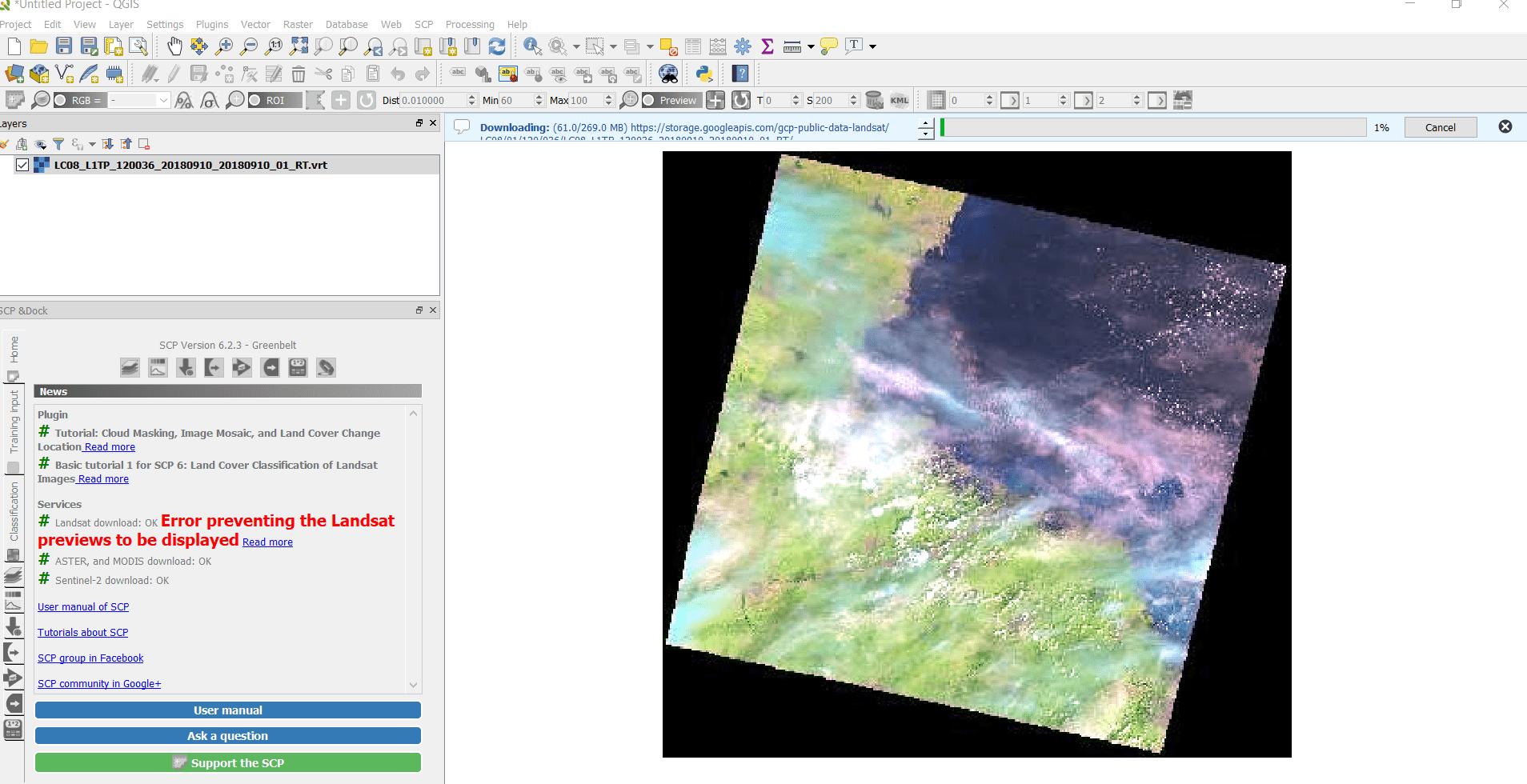 Download Landsat 8 Images in QGIS 3 4 4 - GIS MAP INFO