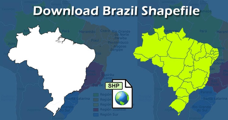 Brazil Shapefile download free
