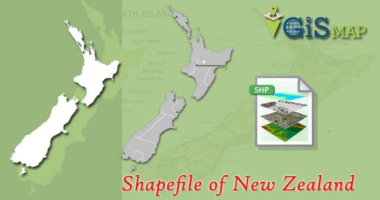 Download New Zealand Map.Download Free New Zealand Shapefile Country Boundary Line Polygon
