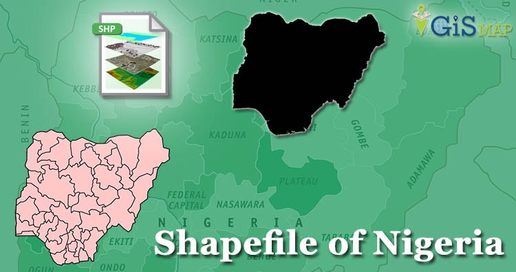 Download Nigeria Shapefile free – Administrative boundary, State, City map