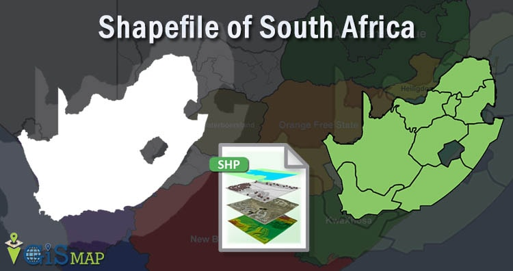 South Africa Shapefile download - Boundary line, Polygon
