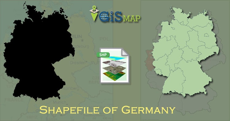 Download Germany Shapefile free – boundary line, polygon shapefile