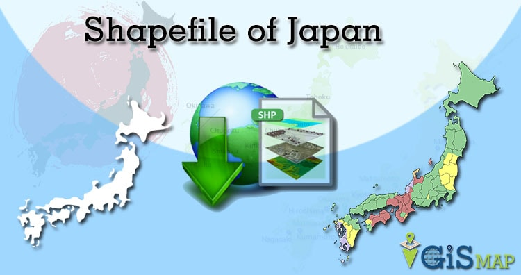 Download Japan Shapefile free – Country boundaries, cities, maps and polygon shapefile