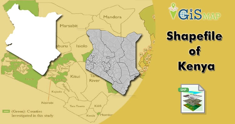Kenya Shapefile download – boundary line, administrative, state and polygon