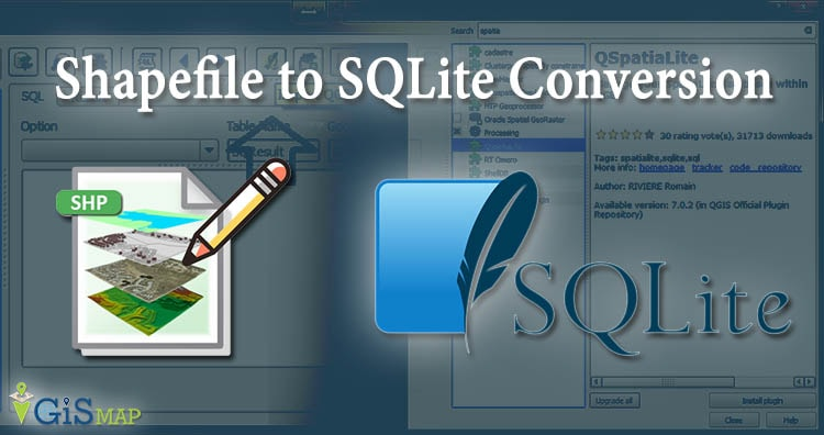 Shapefile SHP to SQlite Conversion