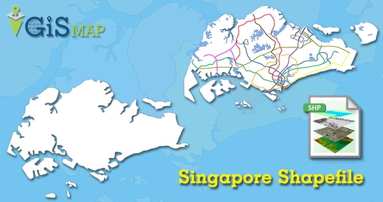Download Singapore Shapefile map free -Country boundary, Singapore KML Convert KML to Geojson